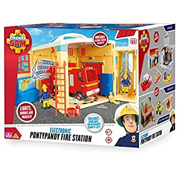 Fireman Sam Electronic Pontypany Fire Station With Lights, Sound & Phrases
