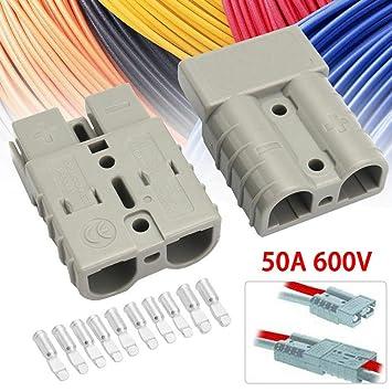 NZNNXN 5 Unidades 600 V 50 A 50 Amp Gris Conector Carvan ...
