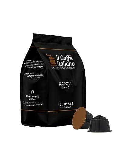 96 cápsulas de café compatibles Nescafé Dolce Gusto - Mezcla Napoli - Il Caffè italiano -