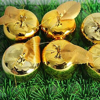 Inicio Monopoly Las manzanas del árbol de navidad decoraciones de regalo de los ornamentos dorados etapa creativa diseño Rojo / Oro (Color : Oro) : Amazon.es: Hogar