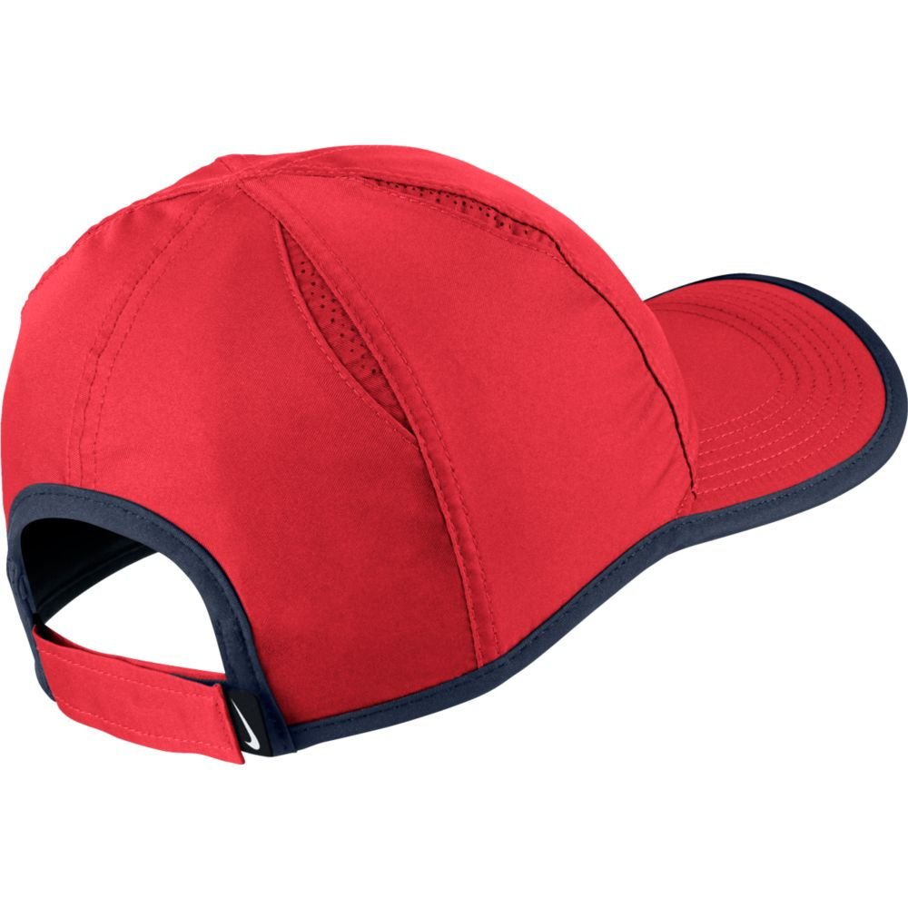 Nike Feather Light Tennis Hat (Action Red/Midnight Navy/Black, One Size) by Nike (Image #2)