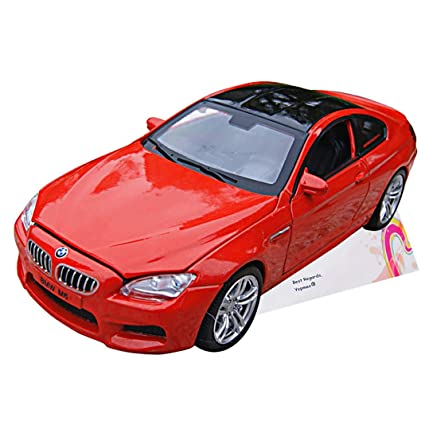 Amazon.com: Coche juguetes 1: 32 negro techo rojo M6 BMW ...