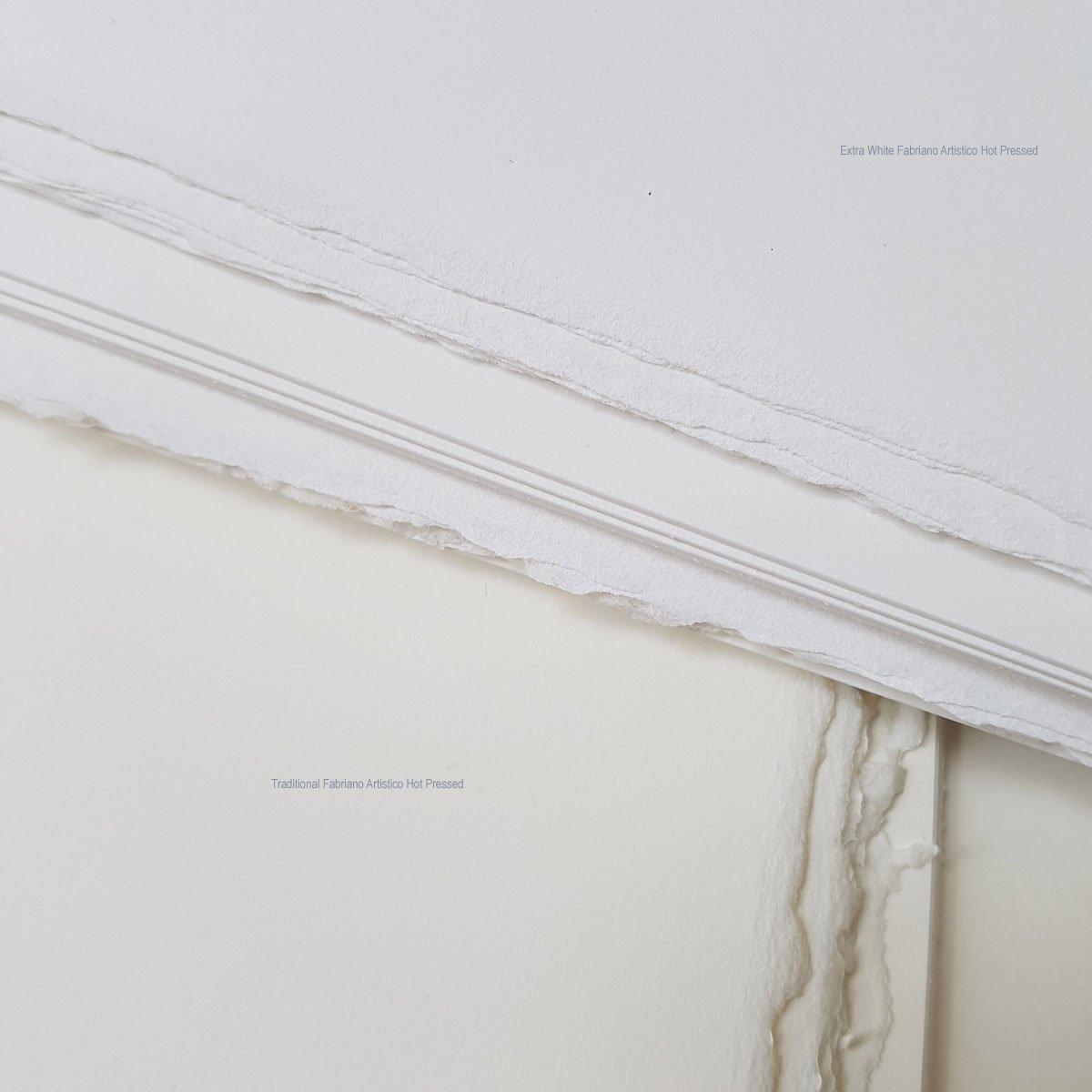 Fabriano Extra White Artistico Hot Pressed Watercolour Paper 380x280mm 20 Sheet