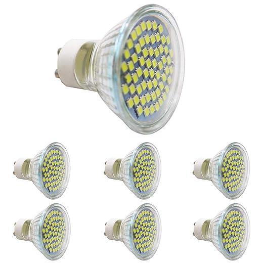 Bombilla LED GU10 Blanco Frío 3 W, equivale a halógeno de 30 W, 300