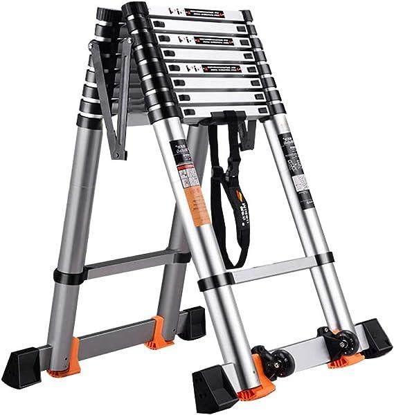 Extensibles Escalera plegable en espiga Telescópica/extensible/retráctil Escalera de techos para techo Casa/Cocina/Aluminio para garaje (Size : 2.2m+2.2m=straight 4.4m): Amazon.es: Bricolaje y herramientas