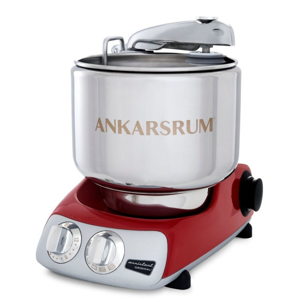 Ankarsrum Original 6230 Red and Stainless Steel 7 Liter Stand Mixer
