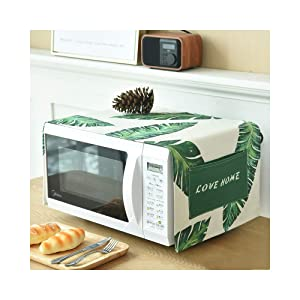 Toaster Cover/Microwave Oven Broiler Appliance Cover,Dust and Fingerprint Protection (Leaves01)