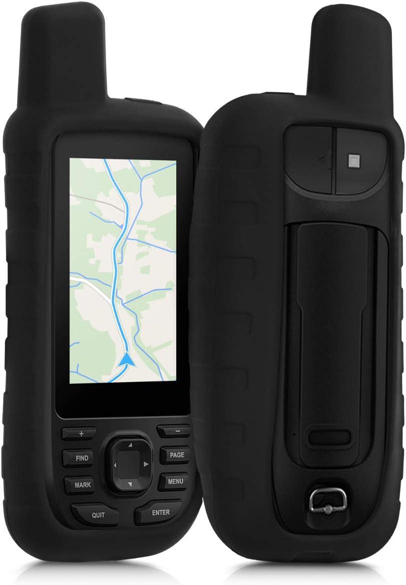 kwmobile Funda Compatible con Garmin GPSMAP 66s / 66st - Carcasa de Silicona para navegador GPS - Cover Negro