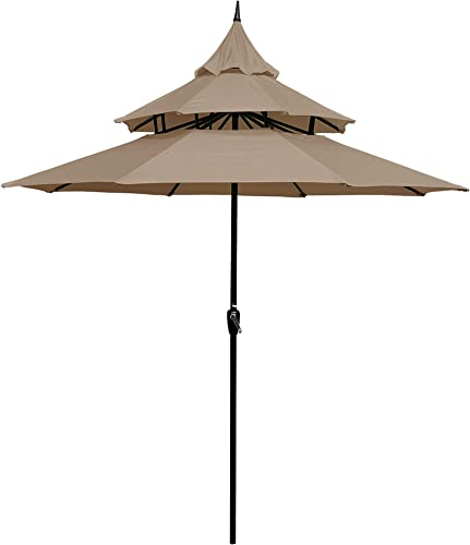 Tangkula 15 Ft Patio Double Sided Umbrella