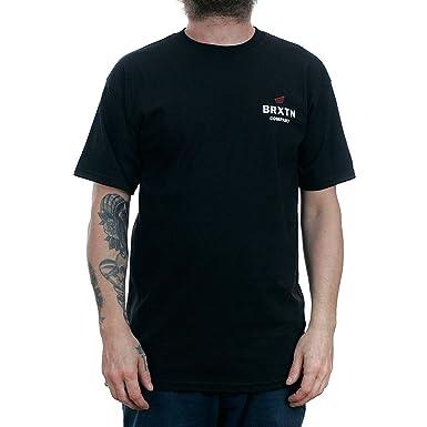 Brixton Peabody T-Shirt Black  Amazon.co.uk  Clothing 2d8f8fccfea