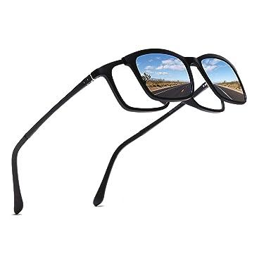 FLDONG Gafas de sol polarizadas 5 en 1 magnéticas con ...