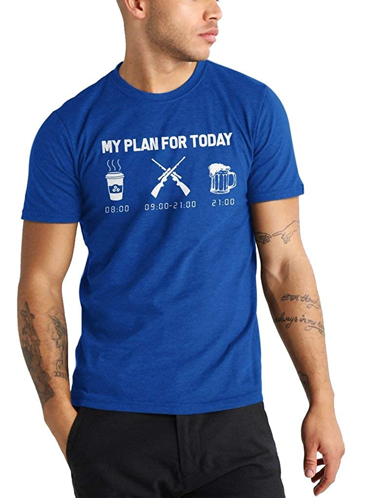 My Plan For Today Coffee Hunting And Beer Funny Vintage Trending Awesome Shirt Unisex Style By Shirt