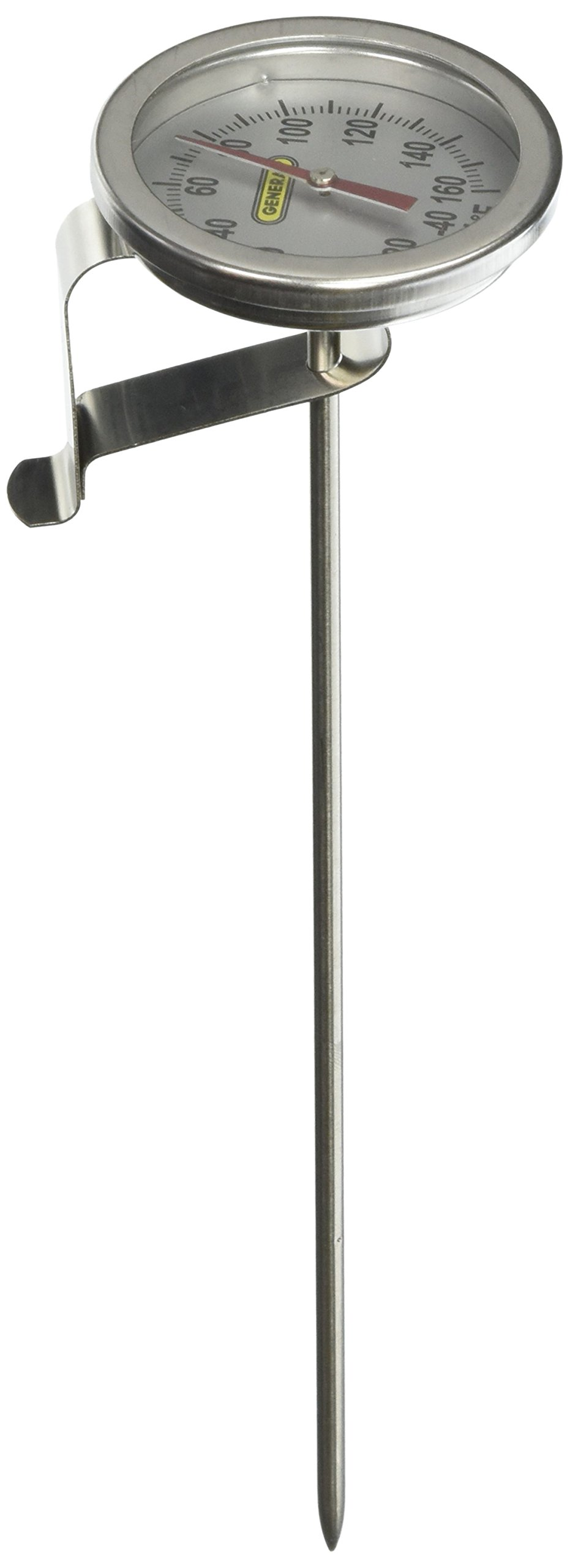 General Tools PT2008G-160 Analog Stem Thermometer with -40 to 160F Range, 8''