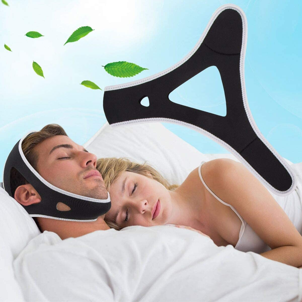 Anti Snoring Chin Straps,Ajustable Stop Snoring Solution Snore Reduction Sleep Aids,Anti Snoring Devices Snore Stopper Chin Straps for Men Women Snoring