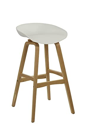 Prime Home Source White Bar Stool Solid Wood Legs Foot Rest Chair Evergreenethics Interior Chair Design Evergreenethicsorg