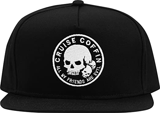 063f065115a All My Friends are Evil Snapback Hat Black at Amazon Men s Clothing store