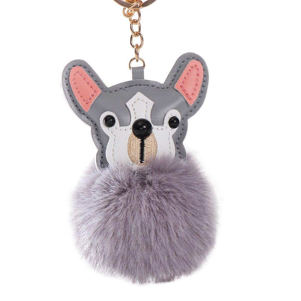 Amazon.com: Kaniem - Llavero de peluche, diseño de perro ...