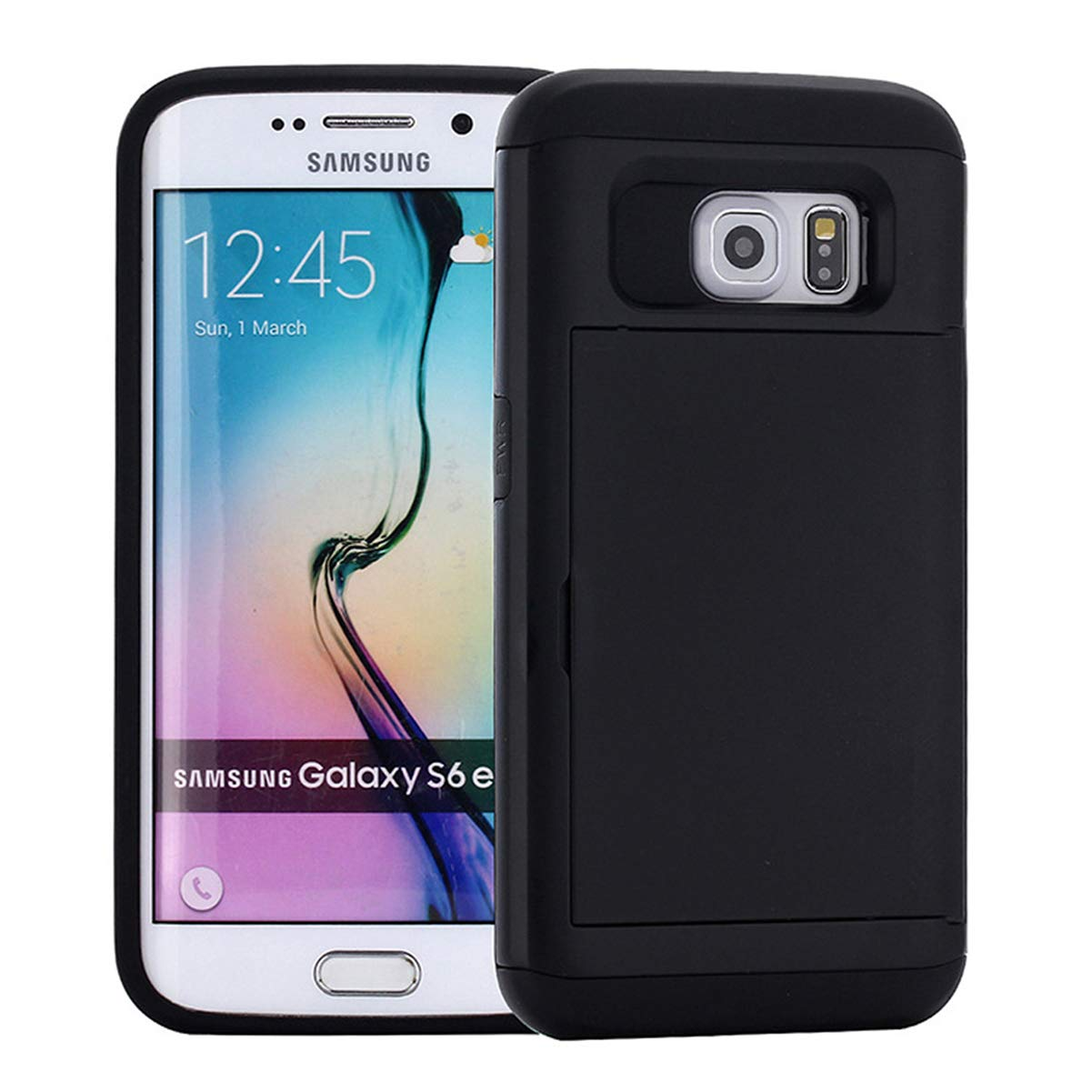 Ldea Case for Galaxy S8 Case, Wallet Card Holder Slot Sliding Cover ID Pocket Anti-Scratch Protective case for Galaxy S8 5.8 inch (Black) by Ldea