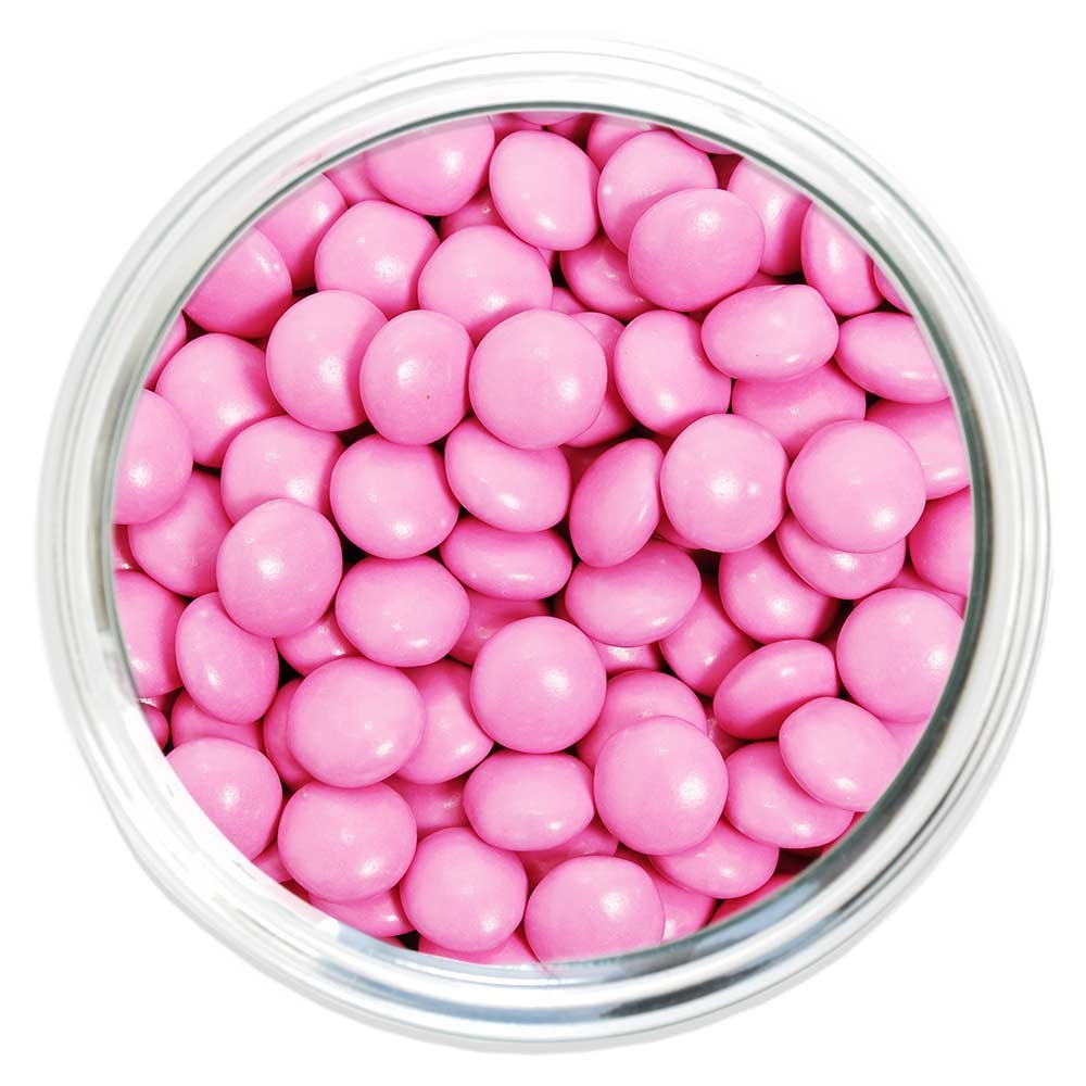 Amazon.com : Candy Coated Chocolate Gems - Pink (2.5 lb bag) by ...