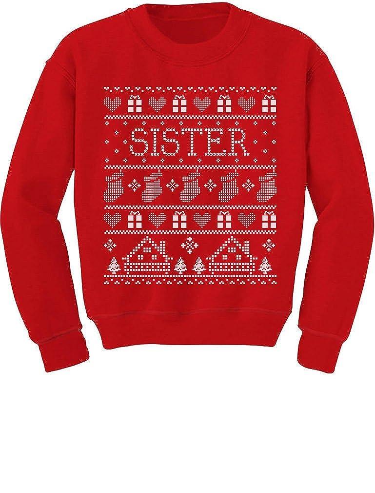 Tstars Cute Sister Ugly Christmas Sweater Funny Toddler/Kids Sweatshirts GhPh3lZgf5