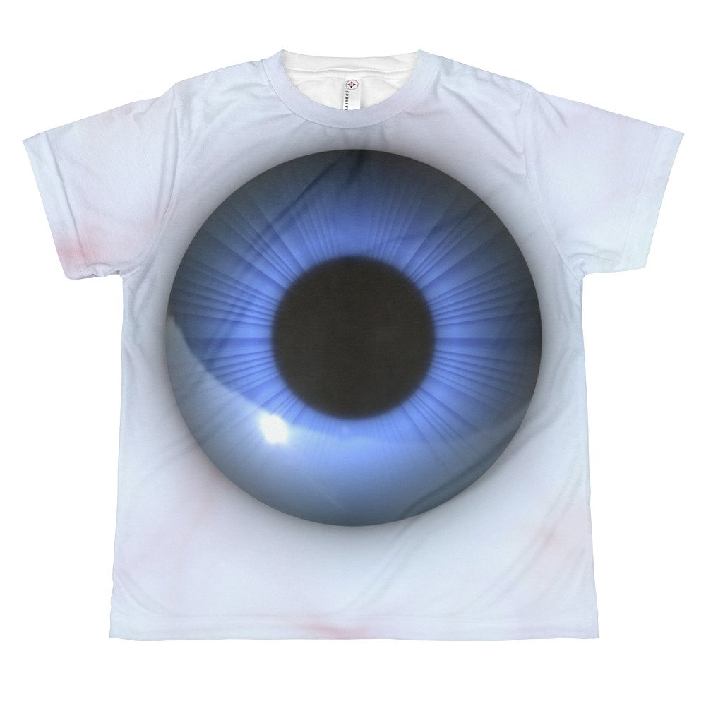 creepy blue eyes All-over youth sublimation T-shirt Top shirt