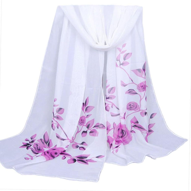 Vidlan Damen Weiche Thin Chiffon Seidenschal Blume gedruckt Schals,160 * 50CM