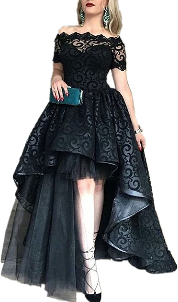 Direct sale of manufacturer LeoGirl Womens Off Lace Tulle High Dress Low Masquera Award-winning store Prom Fancy