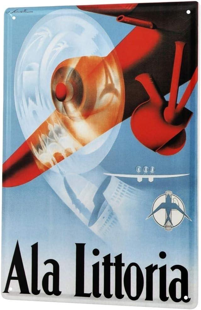 LEotiE SINCE 2004 Targhe Cartello Targa in Metallo Decorazione della Parete Retro Compagnia Aerea Italiana