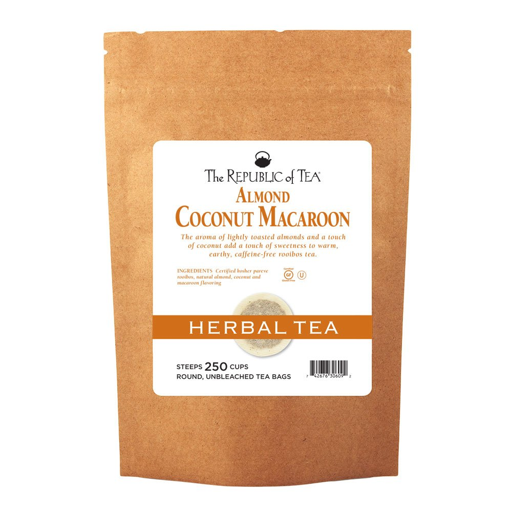 The Republic of Tea Almond Coconut Macaroon Red Rooibos Herbal Tea, 250 Tea Bag Bulk by The Republic of Tea