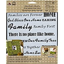 FolkArt Large Painting Stencil, 30740 Family Words