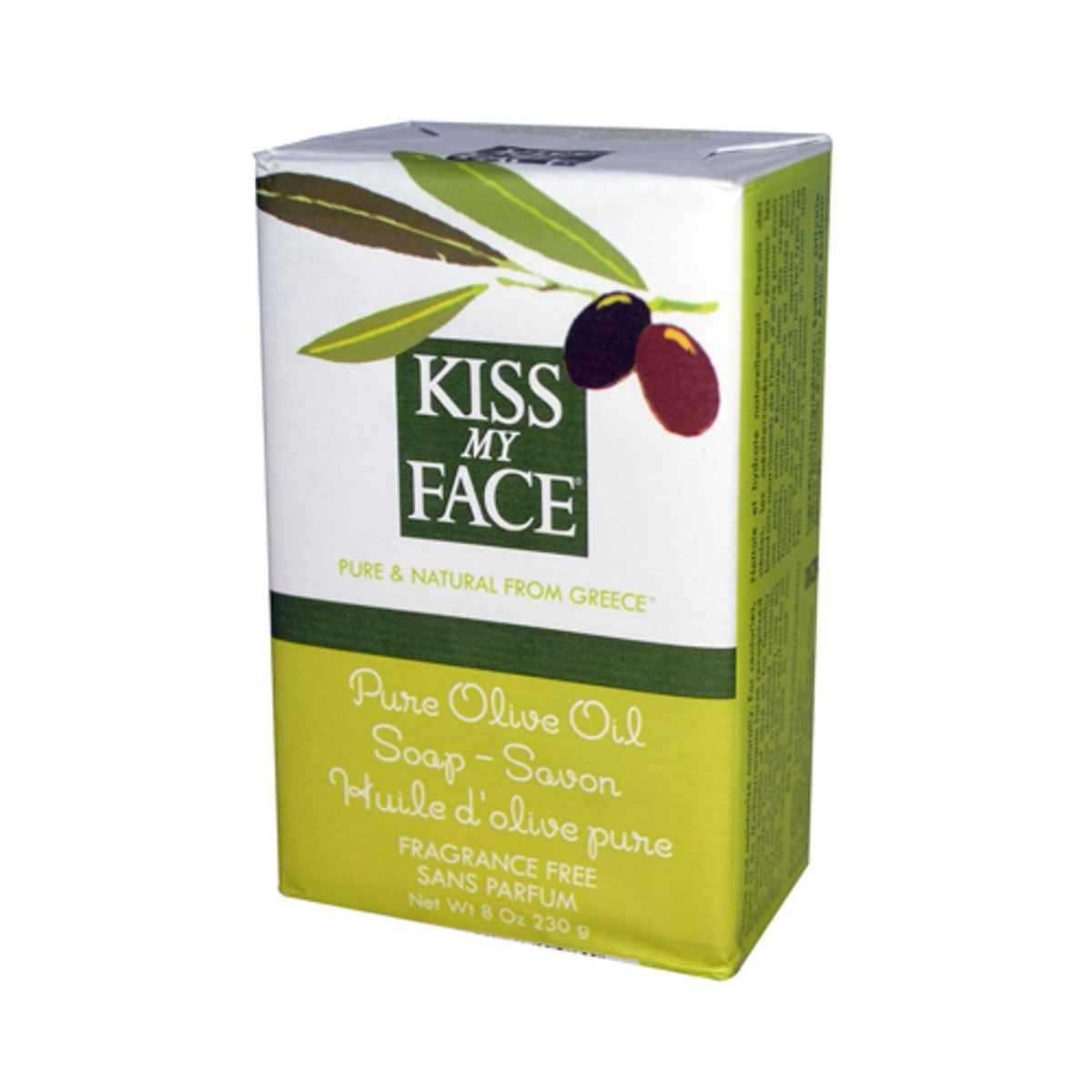 Kiss My Face Bar Soap, 8.0 oz, Pure Olive Oil. 1-Bar