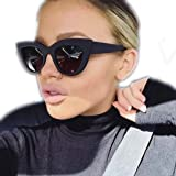 ad99a24733a YABINA Vintage Cateye Sunglasses for Women Plastic Frame Mirrored Lens