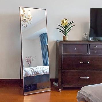 NeuType Longueur Complète Miroir Miroir de Sol avec Debout ...