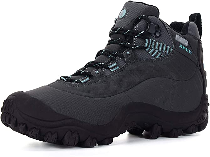 4 UK XPETI Thermator Womens Waterproof Hiking Boots Trekking Boots Green Size