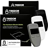 Variety Pack Black, Grey, and White Satoshi Labs Trezor Safe Wallet for bitcoin storage offline wallet safe BTC Litecoin LTC Namecoin Dogecoin Dash