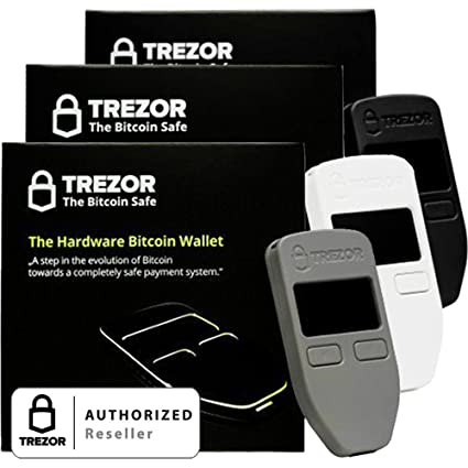 Variety Pack Black Grey And White Satoshi Labs Trezor Safe Wallet For Bitcoin Storage