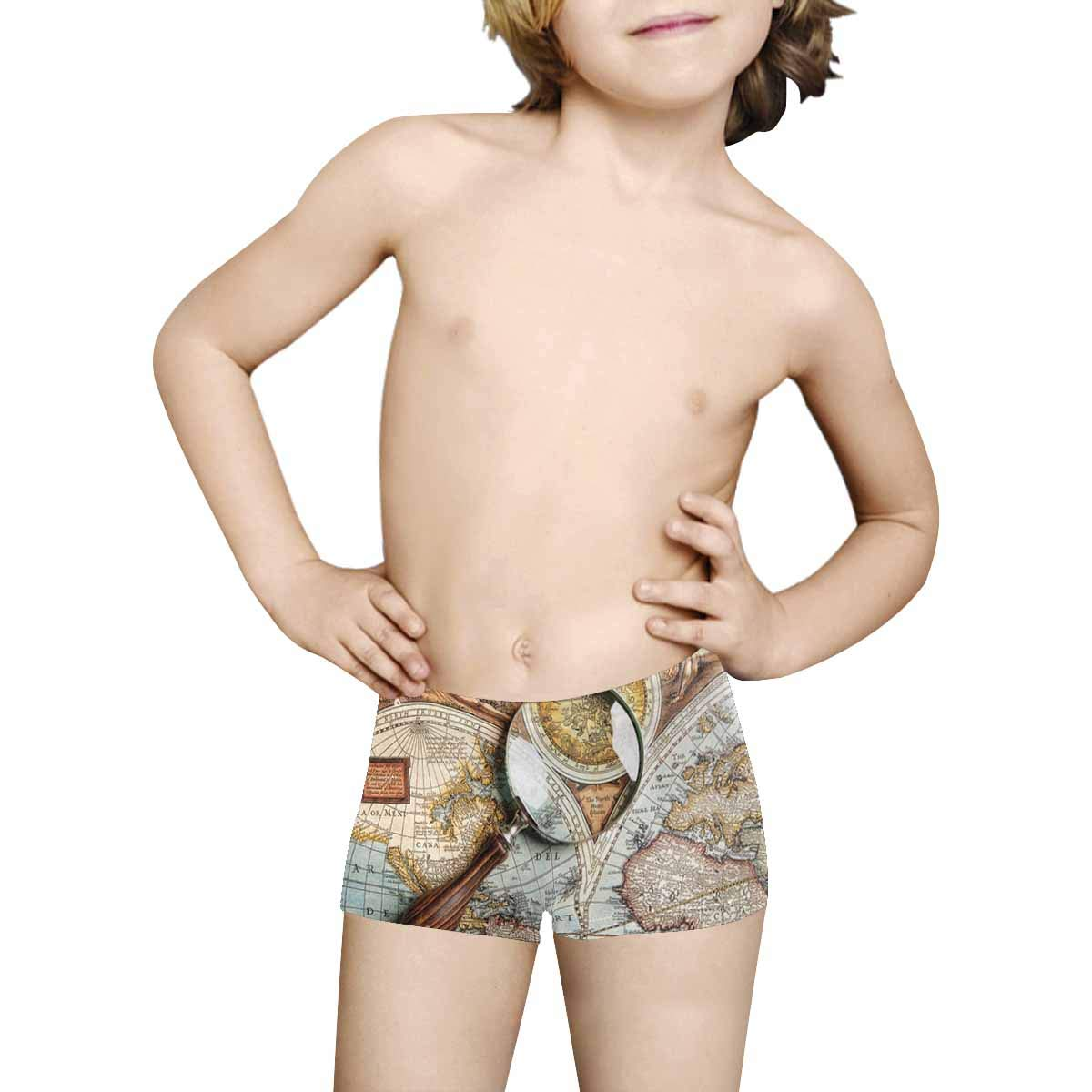 INTERESTPRINT Kids Comfortable Breathable Briefs 5T-2XL