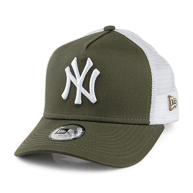 A NEW ERA Gorra Trucker Infantil A-Frame York Yankees Verde Oliva - Juvenil Ajustable: Amazon.es: Ropa y accesorios
