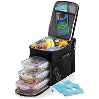 Fiambrera aislada y bolsa térmica para hombres, mujeres, niños (bolsa de almuerzo incluye 3 recipientes reutilizables…