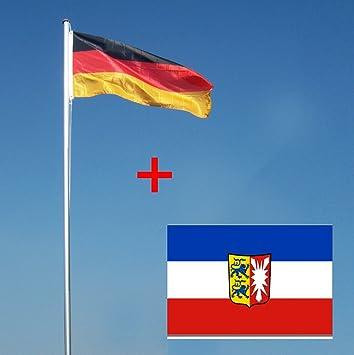Wohnwerk Flaggenmast 4m Mit Deutschlandfahne Und Extra Fahne Ihrer Wahl Fahnenmast Schleswig Holstein 4 Meter