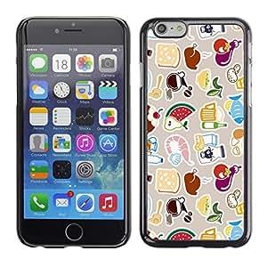 EJOY---Cubierta de la caja de protección la piel dura para el / iPhone 6 / --Modelo lindo FRESCO