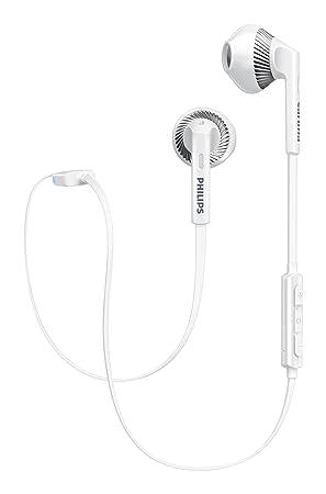 Philips SHB5250WT MyJam Fresh Tones - Auriculares Bluetooth (micrófono, Cable Plano antienredos, diseño