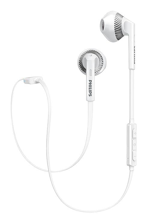 84b51a52e52 Philips SHB5250WT Wireless Bluetooth Earphones with: Amazon.co.uk:  Electronics