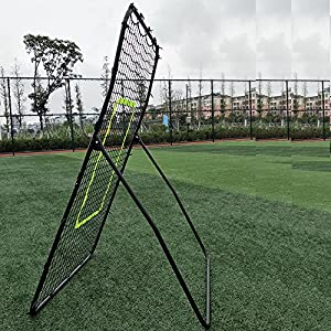 "Olymstore Baseball Softball Rebounder Return Net (56 x 36 x 32)"" Trainer for Throwing, Pitching, and Fielding 