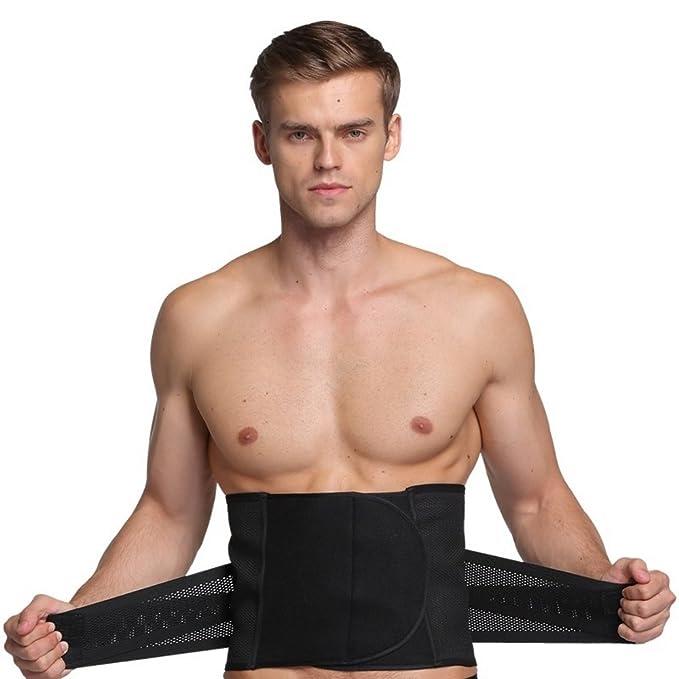 Men/'s Compression Underwear Cincher Waist Trainer Abdomen Supports Body Shaper