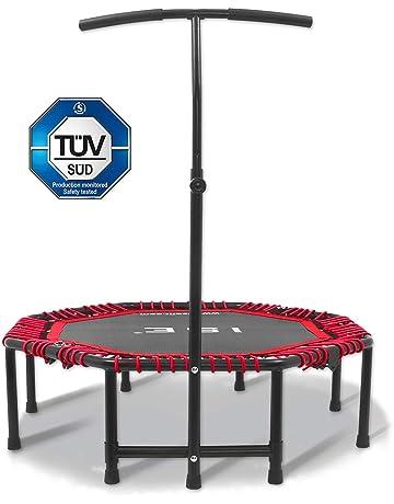 ISE trampolín de Fitness Plegable trampolín de Gym 118 cm Mango Ajustable 116 – 132 cm