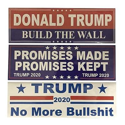 CheeseandU 30Pack Donald Trump 2020 Decals President Make America Great Again Trump Keep America Great Decal Bumper Sticker for Window Cars, 3 Different Sticker Designs,76x230MM: Toys & Games