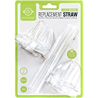 Grosmimi Replacement Silicone Straw, Stage 2, 12m+, 2 Count
