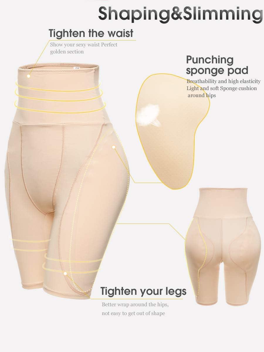 Q/&M Frauen Shapewear H/üftpolster Enhancer Bauch Shaper Fake Ass Kolben-Heber Booties,Schwarz,2XL