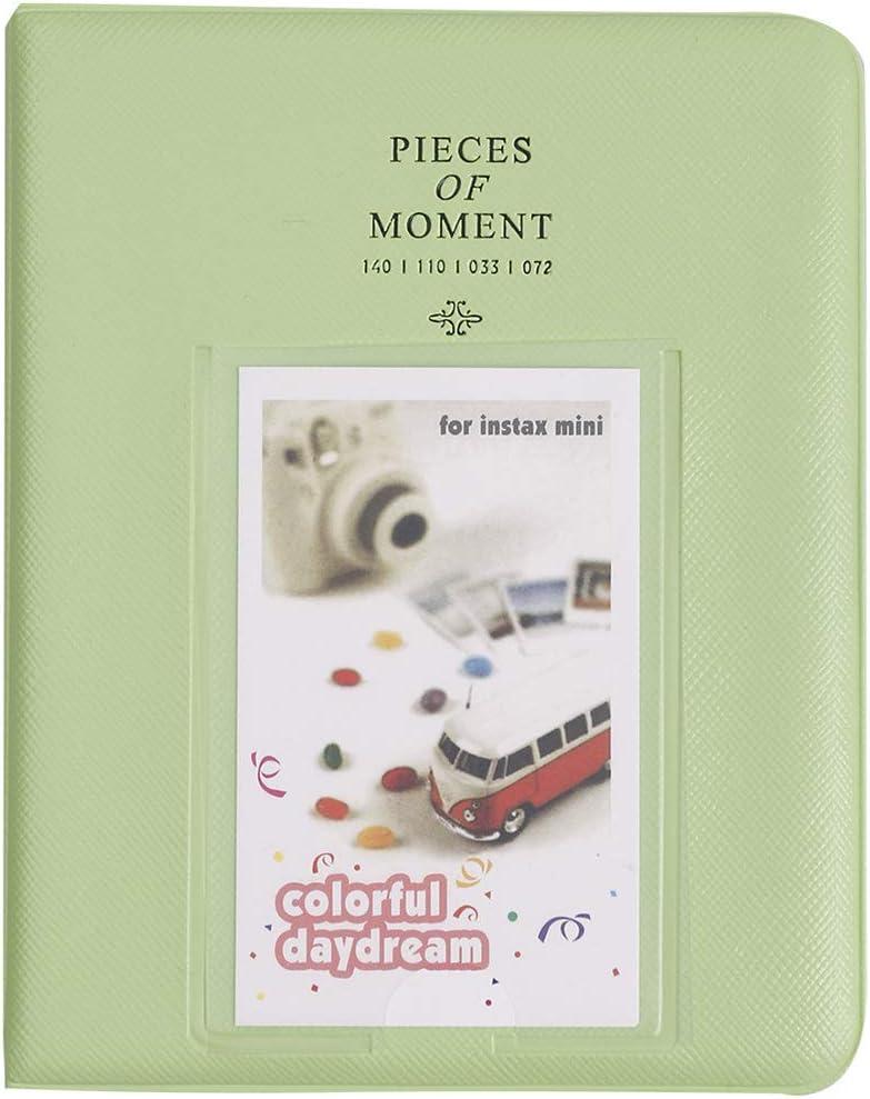 Mini Photo Album for Fujifilm Instax Mini Instant Film HP Sprocket Film Instax Mini Polaroids 2x3 Inch Instax Pictures Photos 64 Pockets Lime Green